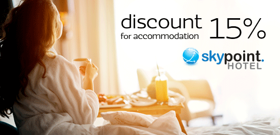 15% discount on accommodation at Sky Point