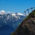 Вид на горнолыжный комплекс Роза Хутор
