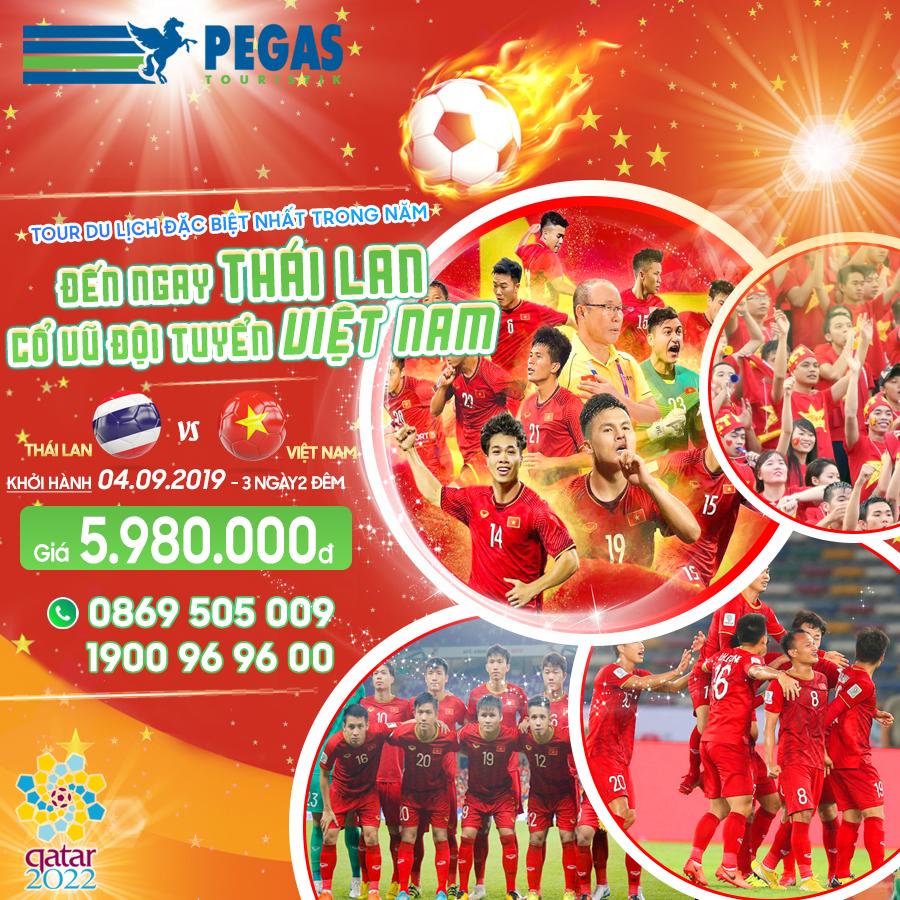 CUỒNG NHIỆT CÙNG BÓNG ĐÁ - VIỆT NAM CHIẾN THẮNG! Tour 3N2Đ Sài Gòn - Bangkok - SVĐ Thammasat